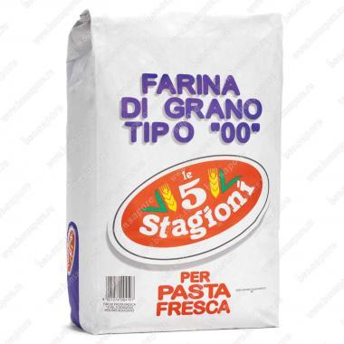 Мука из мягких сортов пшеницы типа 00 Паста фреска le 5 Stagioni 25 кг