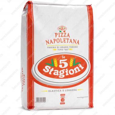 Мука из мягких сортов пшеницы типа 00 Пицца Наполетана le 5 Stagioni 25 кг