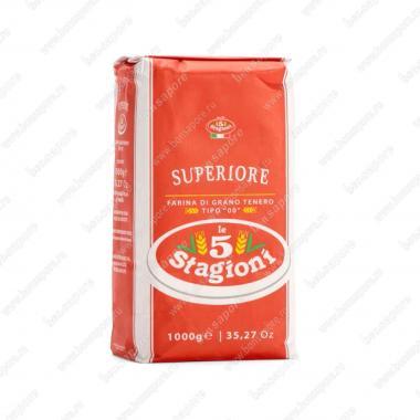 Мука из мягких сортов пшеницы типа 00 Супериоре le 5 Stagioni 1 кг