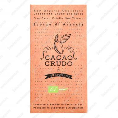 Шоколадная плитка из тёмного шоколада с цедрой Апельсина 50 г БИО, Веган, Cacao Crudo