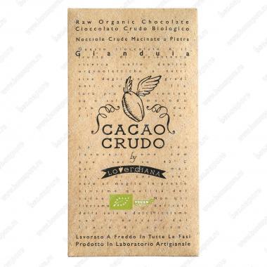 Шоколадная плитка из тёмного шоколада Джандуя 50 г БИО, Веган, Cacao Crudo