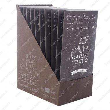Шоколадная плитка из пасты какао 100% 50 г БИО, Веган, Cacao Crudo