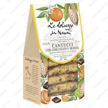 Кантуччини с кусочками Шоколада и Апельсином 200 г le Dolcezze di Nanni Веган