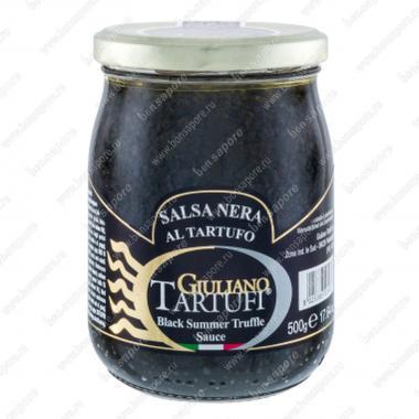 Соус грибной трюфельный (с чернилами каракатицы) 500 г Salsa Nera al Tartufo, Giuliano Tartufi