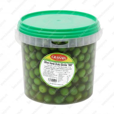 """Оливки зеленые Сицилийские """"Тонде 00"""" 5,9 кг (3,5 кг оливок) Fior di Terra, Antonio Granata"""