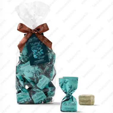 Конфеты шоколадные Трюфель с фисташками Без Глютена La Perla di Torino 190 г