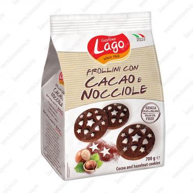 Печенье Фроллини с шоколадом и фундуком Gastone Lago 700 г