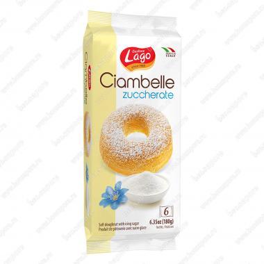 Пончик Чиамбелле в сахарной пудре Gastone Lago 180 г (6 шт * 30 г)