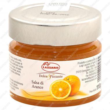 Соус фруктовый из апельсинов Salsa di arance 110 г, Lazzaris