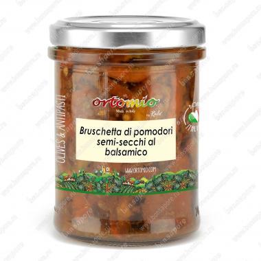 Соус Брускетта из полусушёных помидоров с бальзамическим уксусом Ortomio 180 г