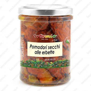 Сушеные помидоры с травами в масле Ortomio 180 г