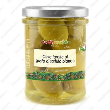 Оливки зеленые с белым трюфелем в масле 180 г Марке, Италия Ortomio
