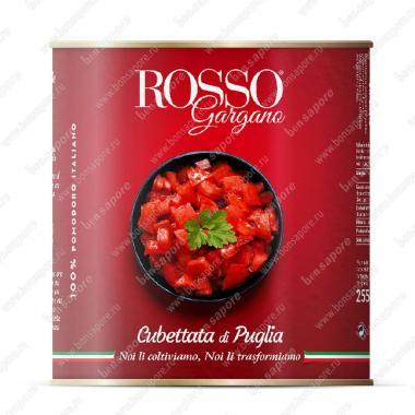 Томаты нарезаные кубиками в собственном соку, Polpa Rosso Gargano 2,5 кг