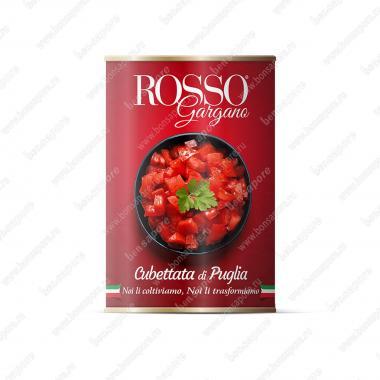 Томаты нарезаные кубиками в собственном соку, Polpa Rosso Gargano 400 г