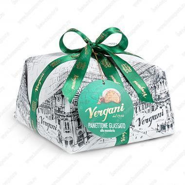 Кекс Панеттоне в миндальной глазури и с изюмом Vergani 1 кг