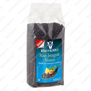 Рис Венере чёрный среднезёрный Riso Vignola 1 кг